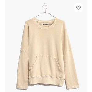 Madewell Rivet and Thread Kanga pocket Sweatshirt